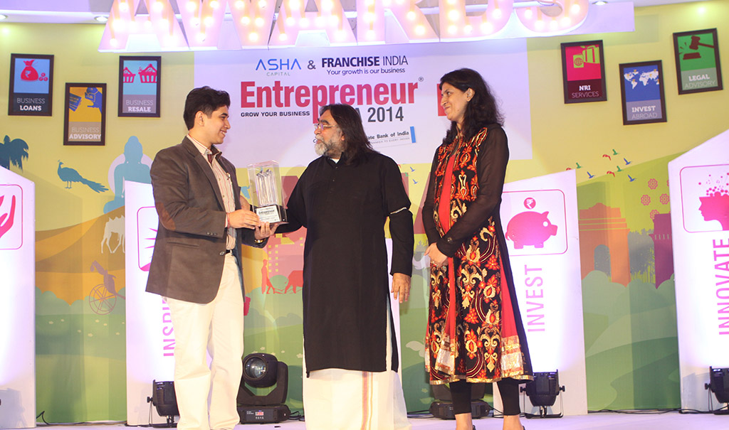 India's Youngest CEO Entrepreneur India 2014 Winning Award